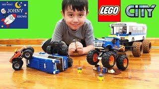 LEGO City Monster Truck VS LEGO MTA City Bus Toy