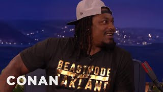 Marshawn Lynch Isn't Mad About That Last Super Bowl Play  - CONAN on TBS