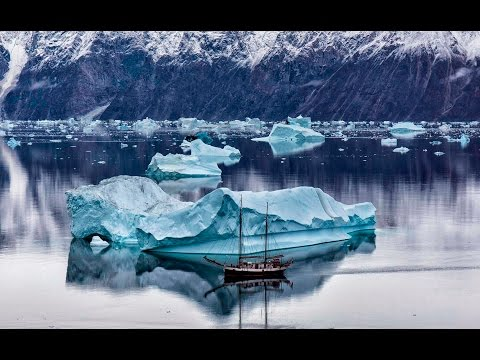 Sailing in East Greenland with the mast oak ship Donna Wood