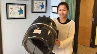 Professional Hair Dryer Salon Floor Bonnet Stand Up Rolling Hair Dryer