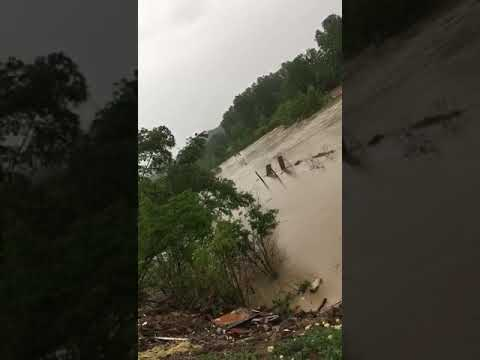 Гудермес Аул, река Гумс. Уровень воды все ещё поднимается