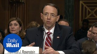 Deputy A.G. nominee Rod Rosenstein grilled by Senate committee - Daily Mail