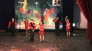 senorita and maria maria salsa dance by lotus dance academy 7:30pm batch