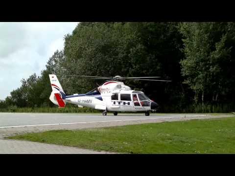 EC SA 365 N Dauphin Take Off Hamburg Boberg