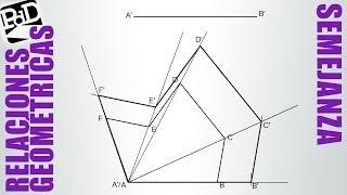 Trazar polígono semejante conociendo un lado (Semejanza).
