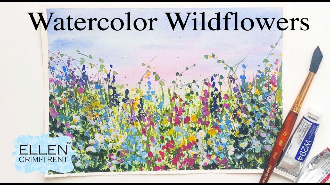 EASY Watercolor Wildflower Tutorial for Beginners!