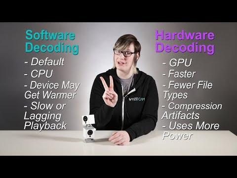 Software versus hardware H 264 decoder by tinycammonitor