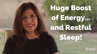 trusii Hydrogen Water Stories:  Irma's energy, sleep, eyesight, and skin have all improved!