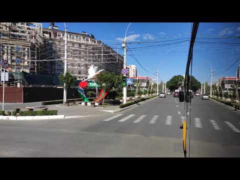 На троллейбусе по улицам 25 Октября и Ленина, Тирасполь / Trolleybus Ride In Tiraspol