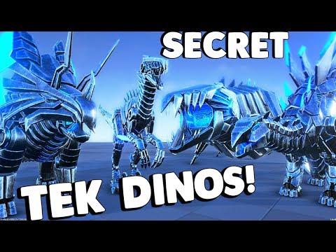 ARK Survival Evolved - SECRET TEK DINOS FOUND! TEK TRIKE, TEK RAPTOR, BIONIC QUETZ & MORE - Gameplay