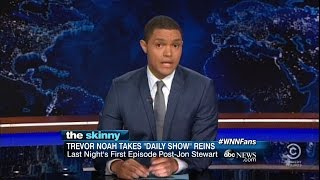 "Trevor Noah's First Night Ever Hosting ""The Daily Show"""