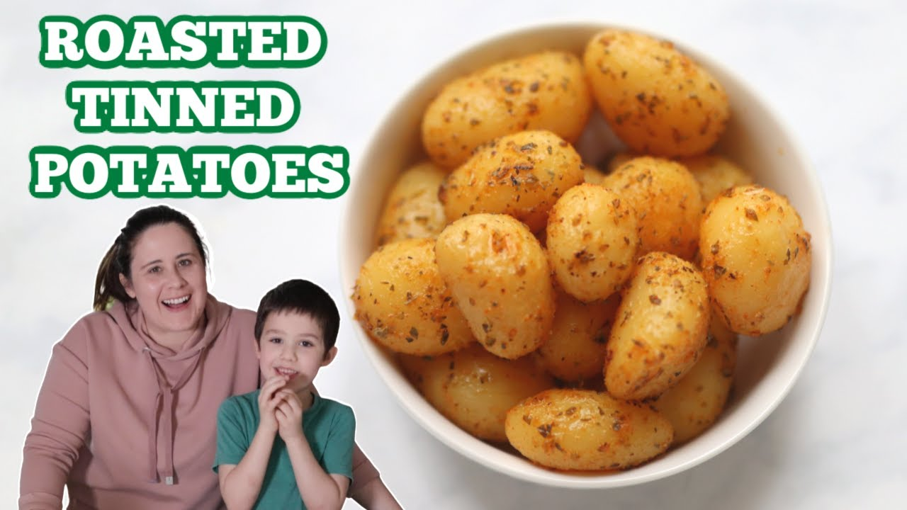 Garlic Herb Roasted Tinned Potatoes Cooking With Kids Youtube