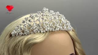 Bije.ru: Свадебная корона с родиевым покрытием и стразами Arefir (Арефир)