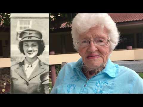 Congresswoman Tulsi Gabbard visits WWII Female Marine Veteran