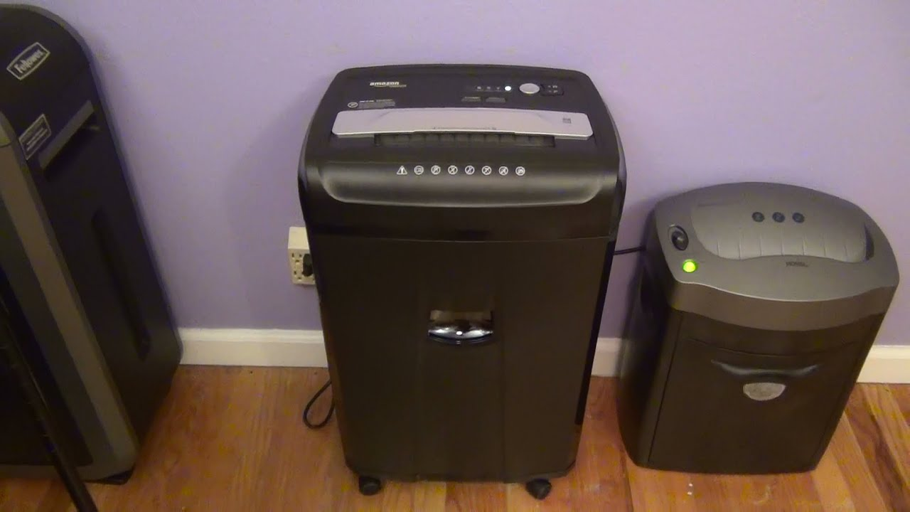 amazonbasics 24 sheet cross cut shredder review youtube