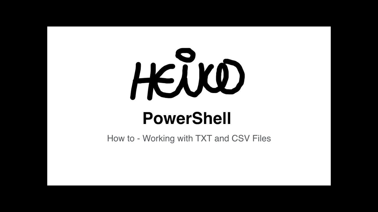 how to make a csv