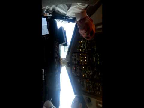 Meeting the pilots of the on the flight deck of a