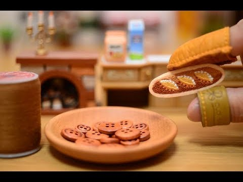 Stopmotion Cooking -SEWING BREAD-[Miniature/ASMR]