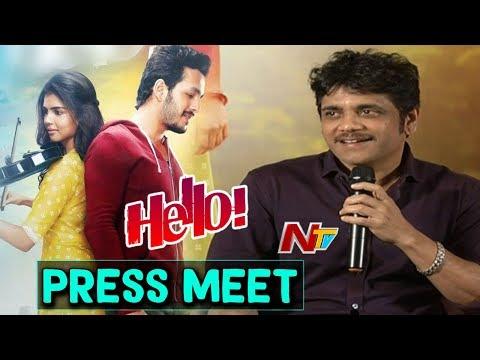 Akkineni Nagarjuna about Hello Movie || Press Meet || Full Video || NTV