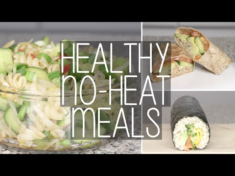 How to | 3 Easy No Heat Healthy Meals for School & Work | Eva Chung