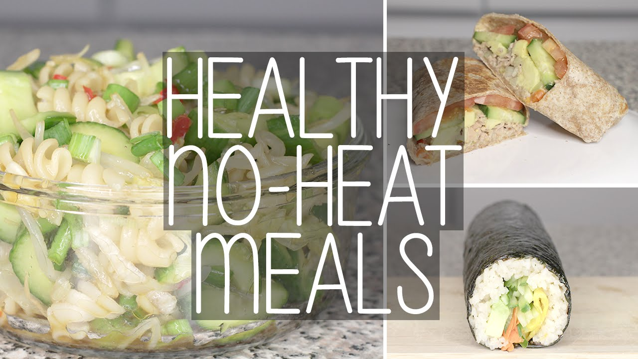 how to 3 easy no heat healthy meals for school work eva chung