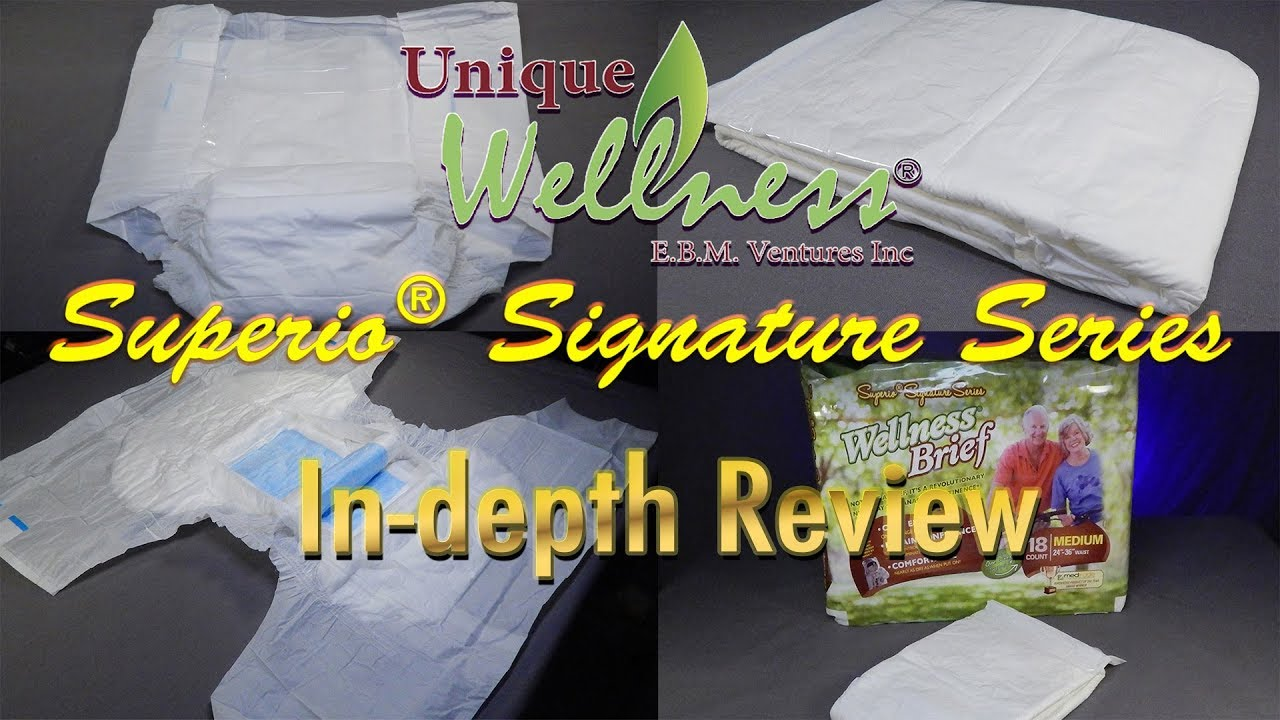 Unique Wellness® Superio®  brief Adult Diaper In-Depth Review #incontinence #adultdiaper