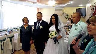Приезд молодоженов и их поздравление на свадьбе  2018 Запорожье тамада ведущая Мария
