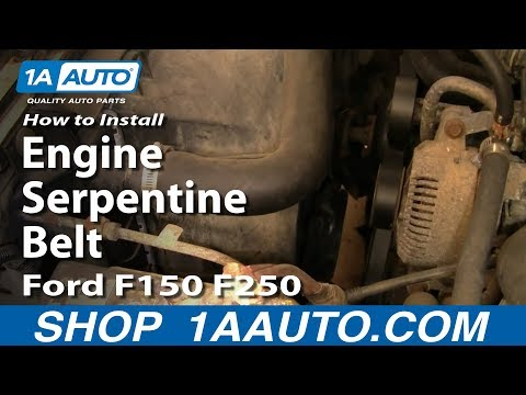 [DIAGRAM_5UK]  How To Replace Engine Serpentine Belt Ford 92-96 F150/F250 | 1A Auto | Belt Diagram For A Ford F 250 5 8 Engine |  | 1A Auto
