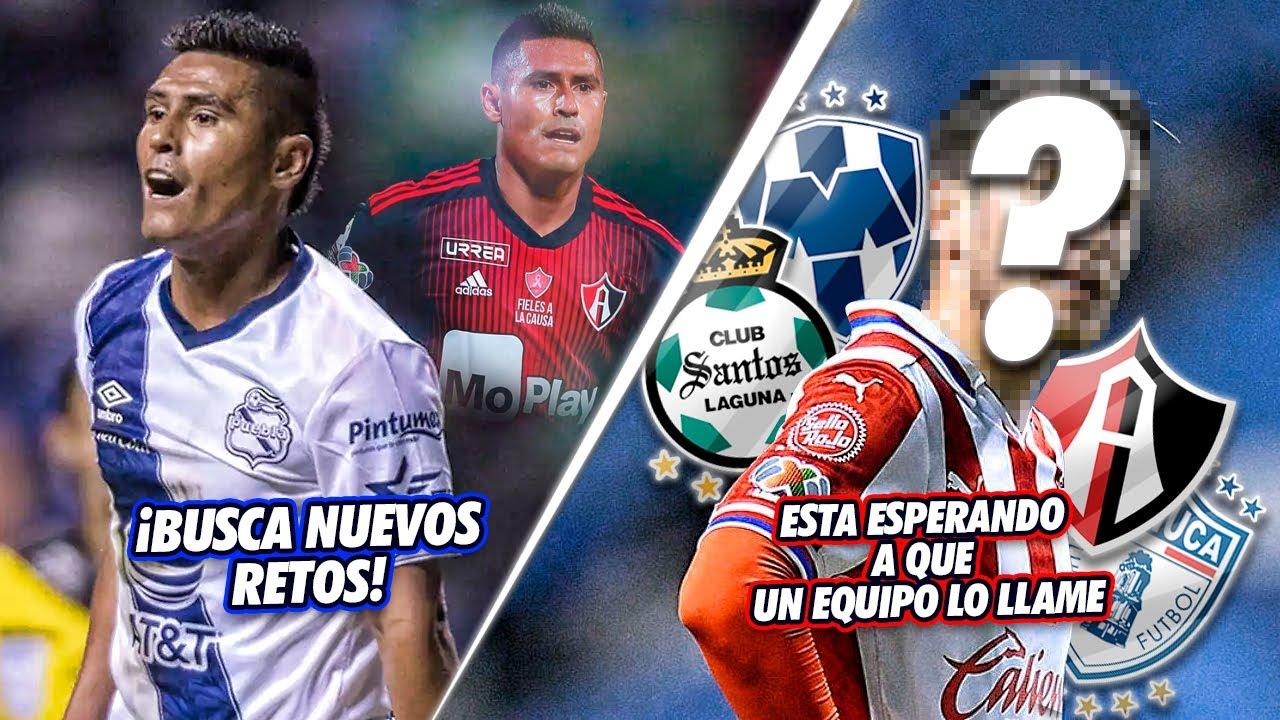9 BUENOS Futbolistas que QUEDARON LIBRES Y BUSCAN EQUIPO en el fútbol Mexicano
