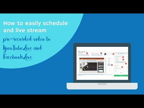 How to schedule pre-recorded videos as live streams