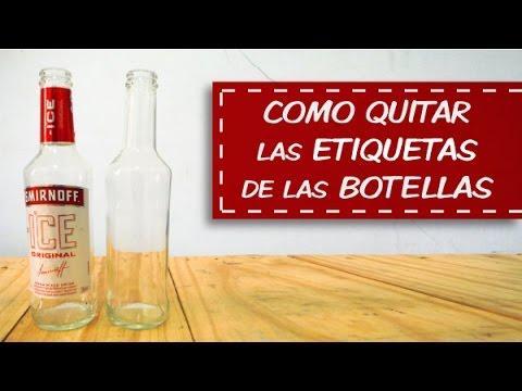 Como quitar las etiquetas de las botellas de cristal youtube - Como quitar la carcoma ...