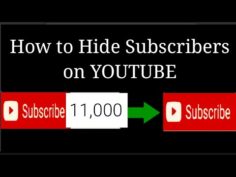 How to hide Subscribers on YouTube