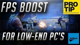 FORTNITE! HOW TO (FIX BOOST) UP FPS FOR LOW END PC 2018 UPDATED. 100% WORKING FOR ALL PC