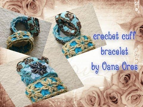 Crochet Cuff Bracelet Pattern Youtube