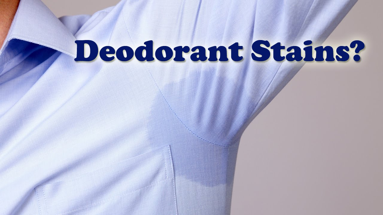 How to clean deodorant stains thecarpets co for Removing sweat stains from white shirts