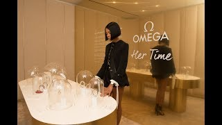 Opening of the OMEGA Her Time pop-up Boutique in New York with Naomi Harris