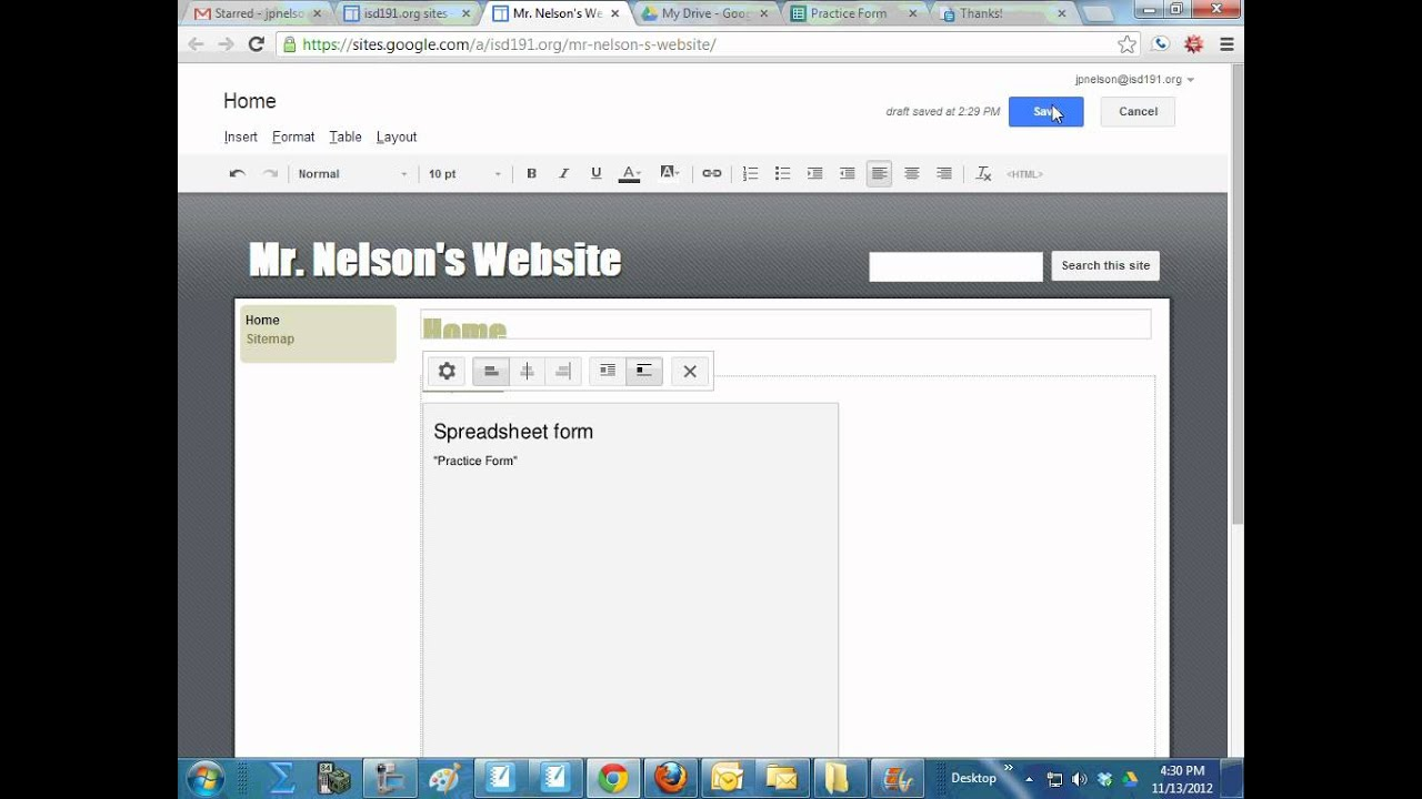 How to Embed a Google Form Into Your Website - YouTube