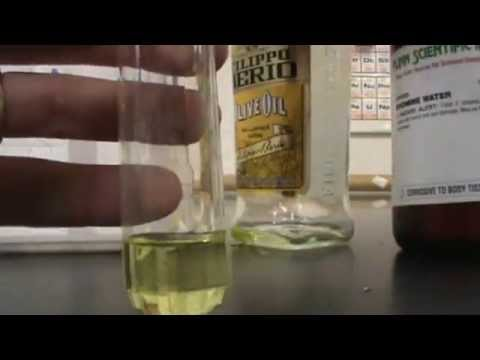Testing for unsaturation in oils - Bromine added to oils