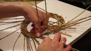 Русская ива. Урок 3. Плетение косы из ивы.