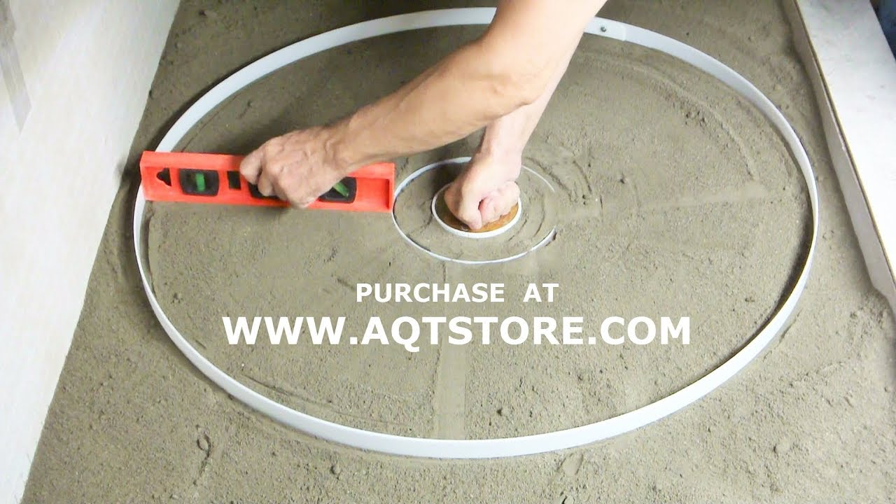 Shower Floor Mud Forming Device MRcp Video 1.