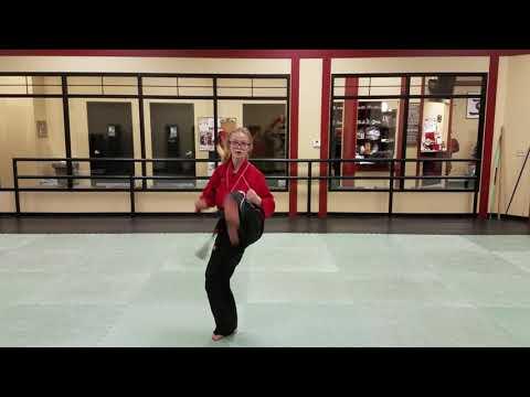 Ho-Am Brown & Red Belt Form side view