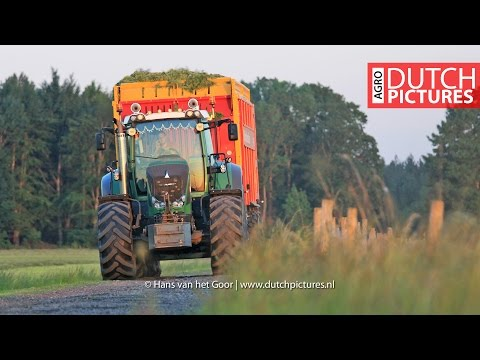 Grass Silage With Fendt Favorit 926, Fendt 824 And Pitwork With New JCB 435s | Visch BV | NL
