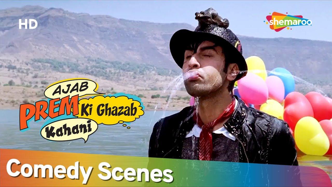 साइकिल की ब्रेक फ़ैल से पकड़ा गया चोर   Ajab Prem Ki Ghazab Kahani   Best Comedy Scenes  Ranbir Kapoor