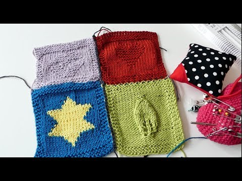 Strickpatches Zusammennähen Youtube
