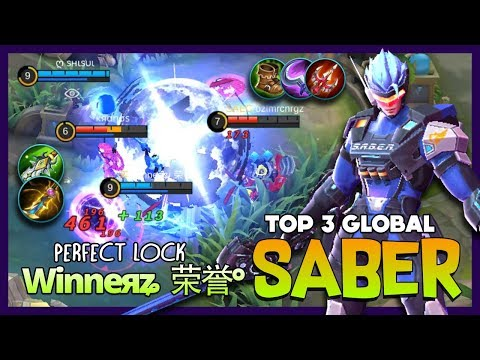 S.A.B.E.R Regulator Triple Sweep Perfect Target! Winneяʑ  荣誉° Top 3 Global Saber ~ Mobile Legends