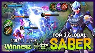 S.A.B.E.R Regulator Triple Sweep Perfect Target! Winneяʑ  荣誉° Top 3 Global Saber ~ Mobile Legends