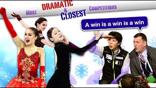 Closest competitions in Figure Skating Dramatic and Controversial wins on Ice