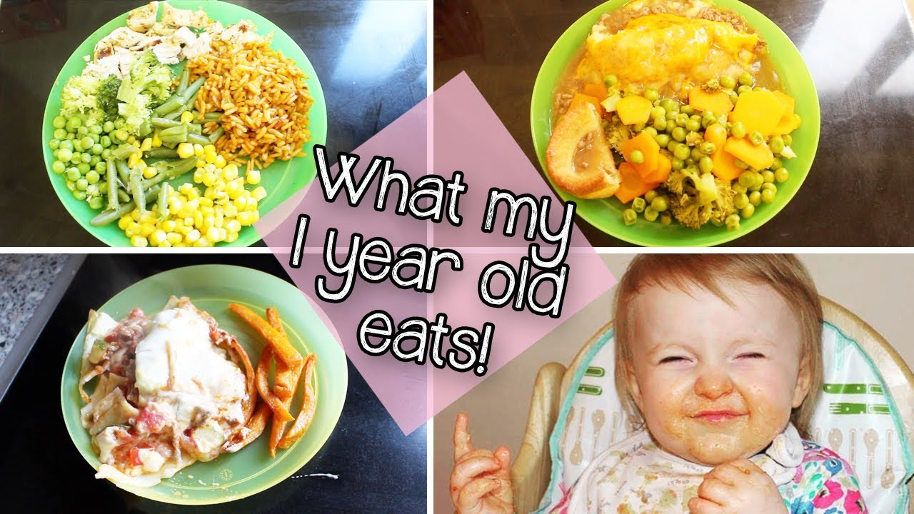 What My 1 Year Old Eats Toddler Meal Ideas Youtube