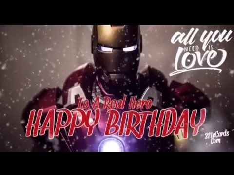Ironman Happy Birthday Video YouTube