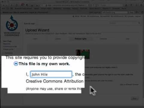 How to upload an image to Wikimedia Commons